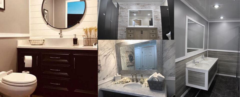 Sampling of interior restroom options